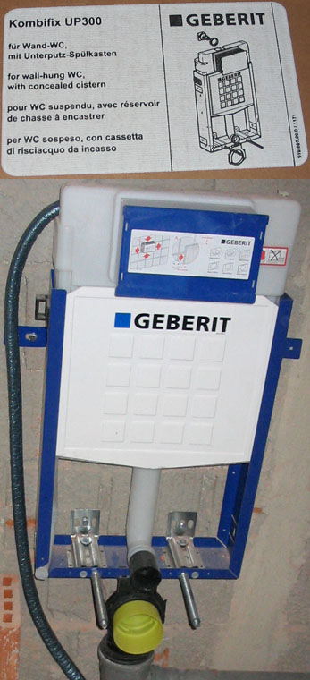 Geberit - Wand wc mit aufgesetztem spulkasten ...